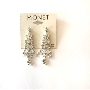 2/$10 Monet chandelier earrings new with tags